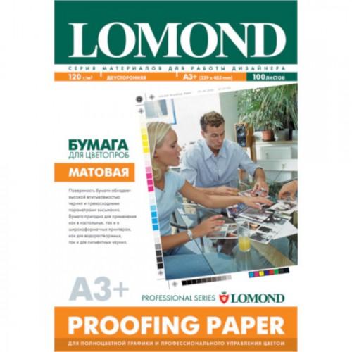 Бумага Lomond матовая для цветопроб для струйной печати, 120 г/м2, двухсторонняя, А3+, 1410021