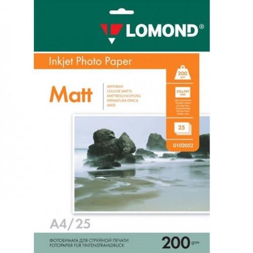 Бумага Lomond 0102052 двухсторонняя матовая для струйной печати, 200гр, А4, 25 листов