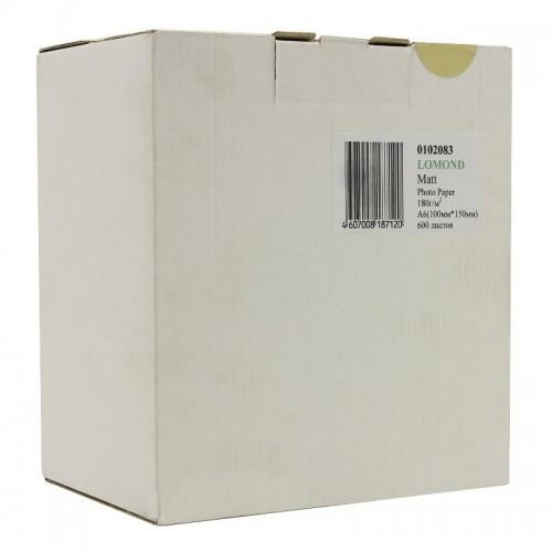 Бумага Lomond 0102083, односторонняя матовая, 10х15, 180гр, А6, 600 л