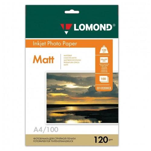 Бумага Lomond 0102003 матовая для струйной печати, 120гр, А4, 100 л