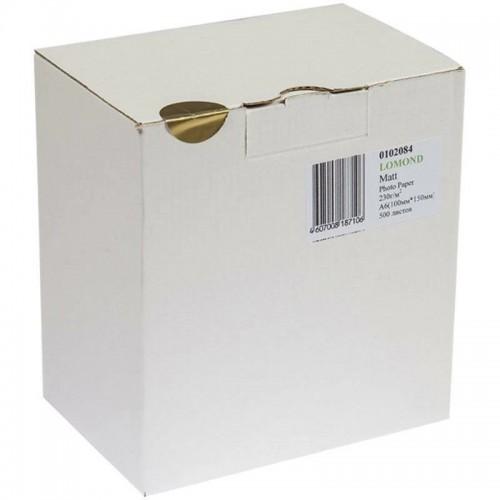 Бумага Lomond 0102084 матовая односторонняя, 230гр, А6, 500л