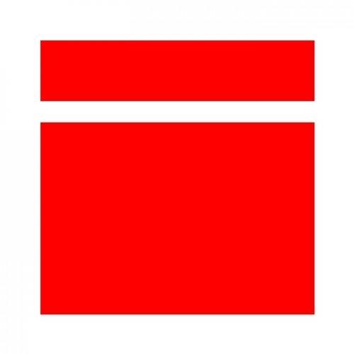 ABS-Пластик для лазерной гравировки АТ-101, Красный-Белый, 1200x600x1,5, SW-001