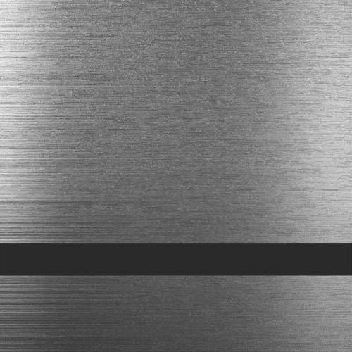 ABS-Пластик для лазерной гравировки AT-853, Серебро царапанное-Чёрный, 1200x600x1,5