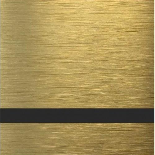 ABS-Пластик для лазерной гравировки AT-115, Золото царапанное-Черный, 1200X600X1,5