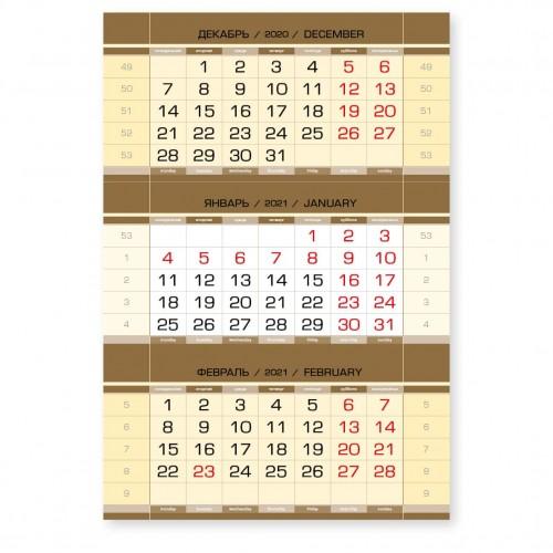 """Календарные блоки """"ДОМИК"""", вертикальные, золото, мелованные, 50 комплектов"""