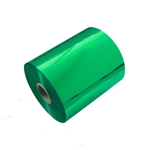 Фольга для горячего тиснения, зелёная, по бумаге, 0.18×120м