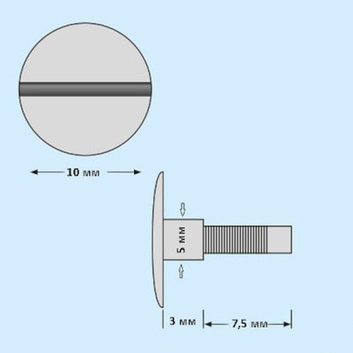 Винт-удлинитель 3 мм, серебро