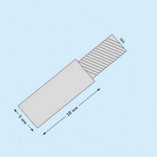 Металлическая вставка для наращивания переплётных винтов 10 мм, серебро