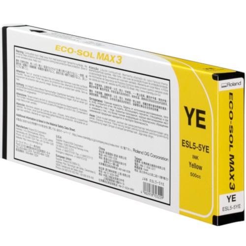 Картридж желтый Roland ECO-Sol MAX3, ESL5-YE, 220мл