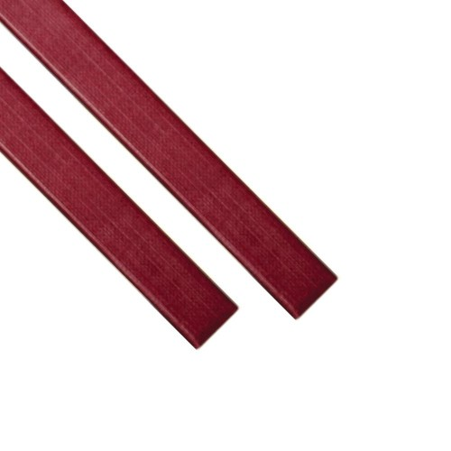 "Каналы Металбинд O.CHANNEL с покрытием ""ткань"" красные А4, 28 мм (до 260 листов), 10 шт"