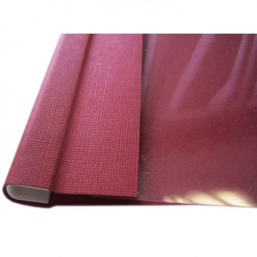 Обложки Opus C-BIND O.SOFTCLEAR A бордовые, А4, 10 мм, 50 шт