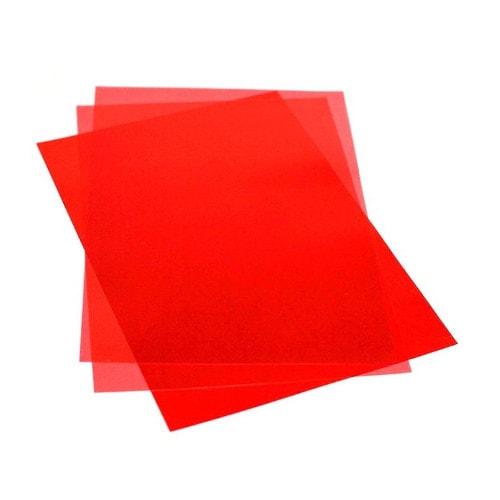 Обложки для переплёта тонированные красные 180 мкм А4, 100 шт