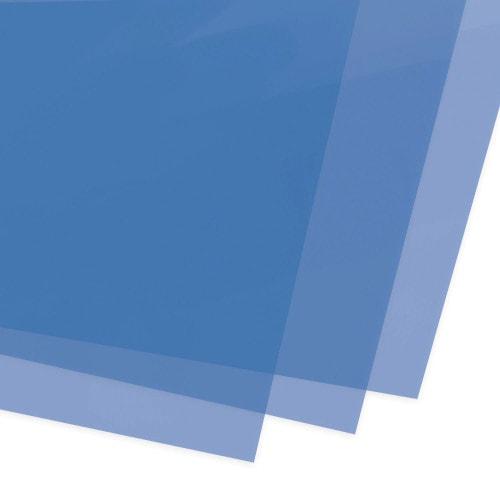 Обложки для переплёта тонированные синие 180 мкм, А4, 100 шт