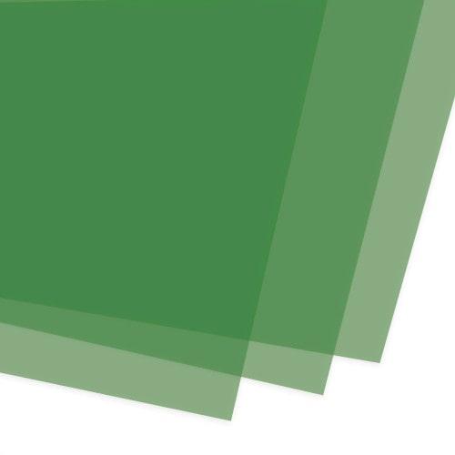 Обложки для переплёта тонированные зеленые 180 мкм, А4, 100 шт