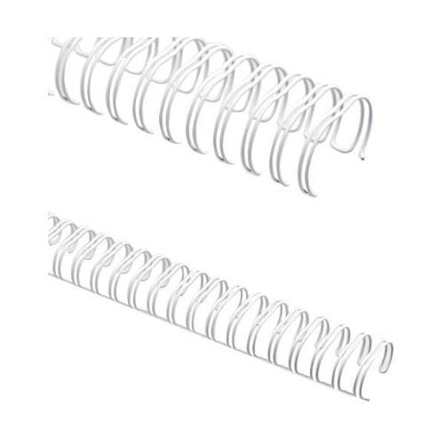 Пружины металлические для переплёта А4 диаметр 7/16 (11.1 мм), шаг 3:1, белые, 100 шт