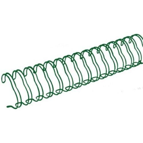 Пружины металлические для переплёта А4 диаметр 5/16 (7.9 мм) шаг 3:1 зеленые, 100 шт