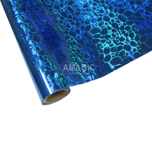 Фольга для текстиля Amagic TSX B3K101, синяя пузыри, 0.64x60м