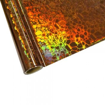 Фольга для текстиля Amagic TSX H3K101, бронза пузыри, 0.64x60м
