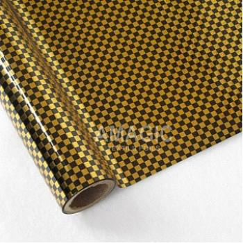 Фольга для текстиля Amagic TSX K0AJ01, клетка, 0.64x60м