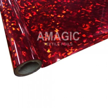 Фольга для текстиля Amagic TSX R4HP38, красная кристаллы, 0.64x60м