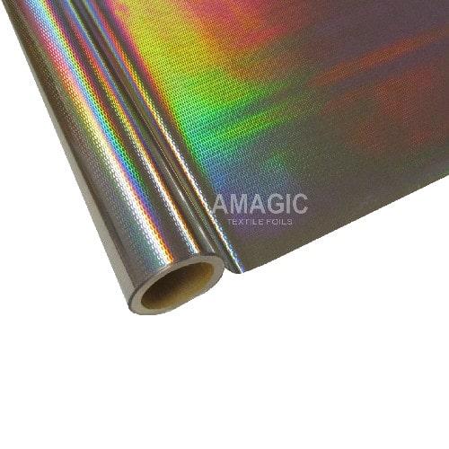 Фольга для текстиля Amagic SEKP92, серебро чешуя, 0.64x60м