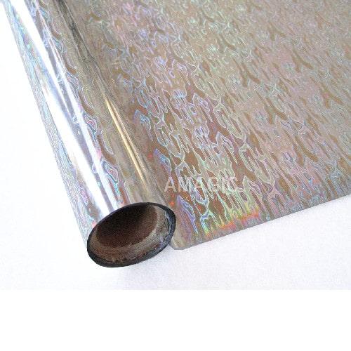 Фольга для текстиля Amagic S0K114, серебро водопад, 0.64x60м