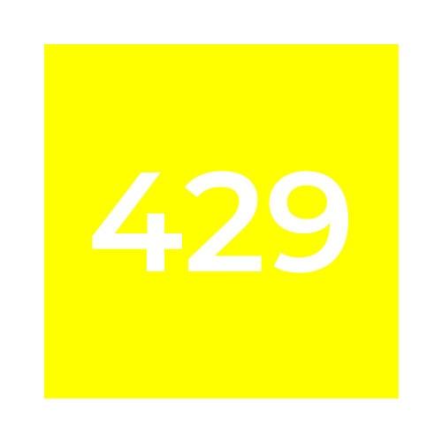 Краска Marabu GL 429 Process Yellow, растровая желтая
