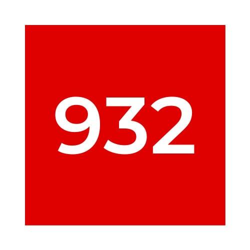 Краска Marabu TPR 932 Scarlet Red, красная