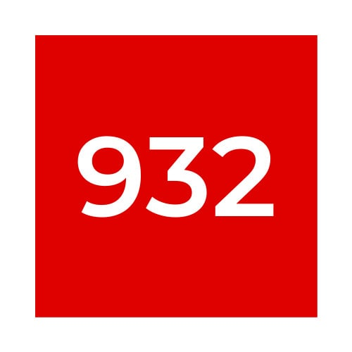 Краска Marabu UVS 932 Scarlet Red, красная