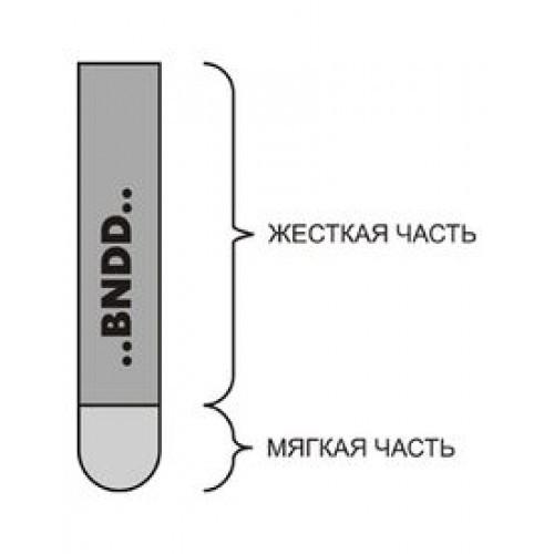 Ракельное полотно с закругленным профилем BDN 85/70Sh, 9.5х50 мм