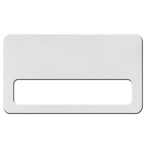 Бейдж с окном белый, 70х40 мм, без крепления
