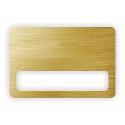 Бейдж с окном 70х40 мм золото шлифованное, без крепления
