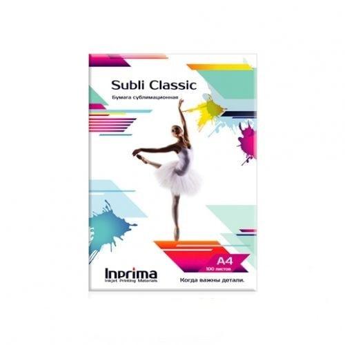 Бумага сублимационная Inprima Subli Classic А4, 100л