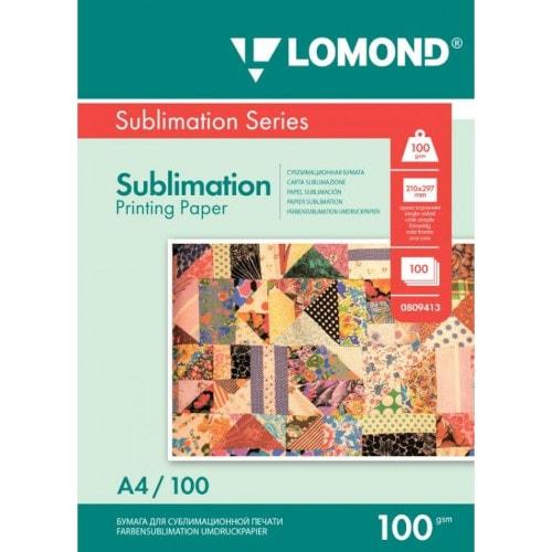 Бумага для сублимации LOMOND 0809413, 100 г/кв.м, А4, 100л
