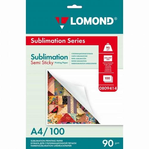 Бумага для сублимации LOMOND 0809414 липкая, 90г/кв.м, А4, 100л