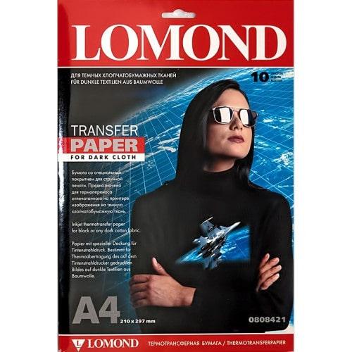 Бумага термотрансферная Lomond 0808425 А4 для темных тканей, 50 л