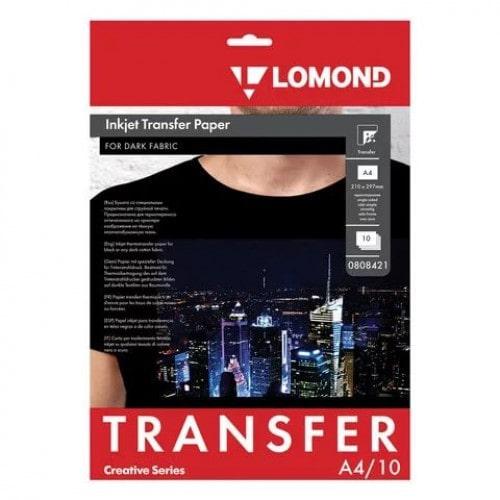 Бумага термотрансферная Lomond 0808421 А4 для темных тканей, 10 л