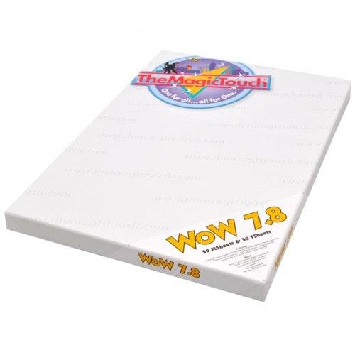 Бумага термотрансферная The Magic Touch WoW 7.8 A3 для черных и цветных тканей, 1/1л