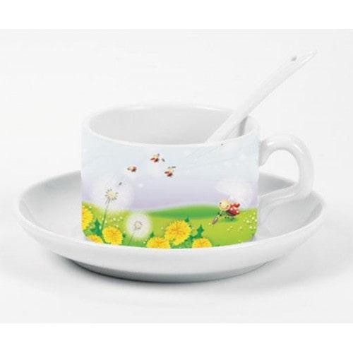 Кофейная пара для сублимации B5KFF2,чашка с блюдцем
