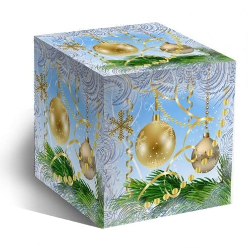Коробка подарочная для кружки Новогодние шары