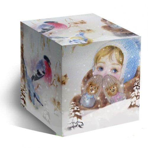 Коробка подарочная для кружки Варежки