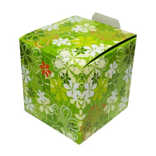 Коробка подарочная для кружки Зеленые цветы