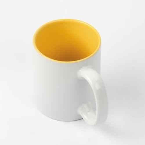 Кружка сублимационная белая, желтая внутри