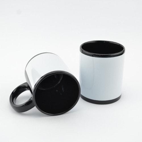 Кружка сублимационная черная с окном