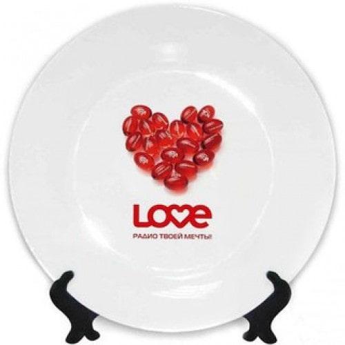 Тарелка для сублимации белая, диаметр 20 см