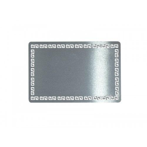 Металлическая заготовка для визитной карточки, серебро, 54×86