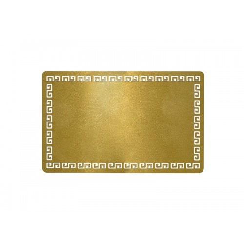 Металлическая заготовка для визитной карточки, золото, 54×86