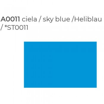 Пленка P.S.Film A0011 sky blue (голубой), 1м, 0.5м
