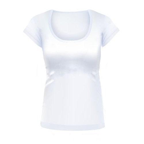 Футболка женская для сублимационной печати белая, U-ворот, размер 40 (XS)