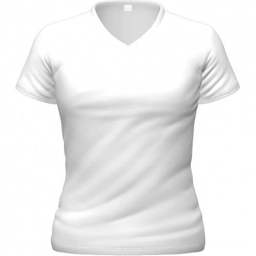 Футболка женская для сублимационной печати белая, V-ворот, размер 40 (XS)